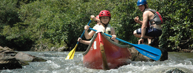 canoeing camp program at High Rocks