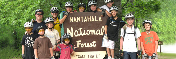 boys summer mountain biking camp